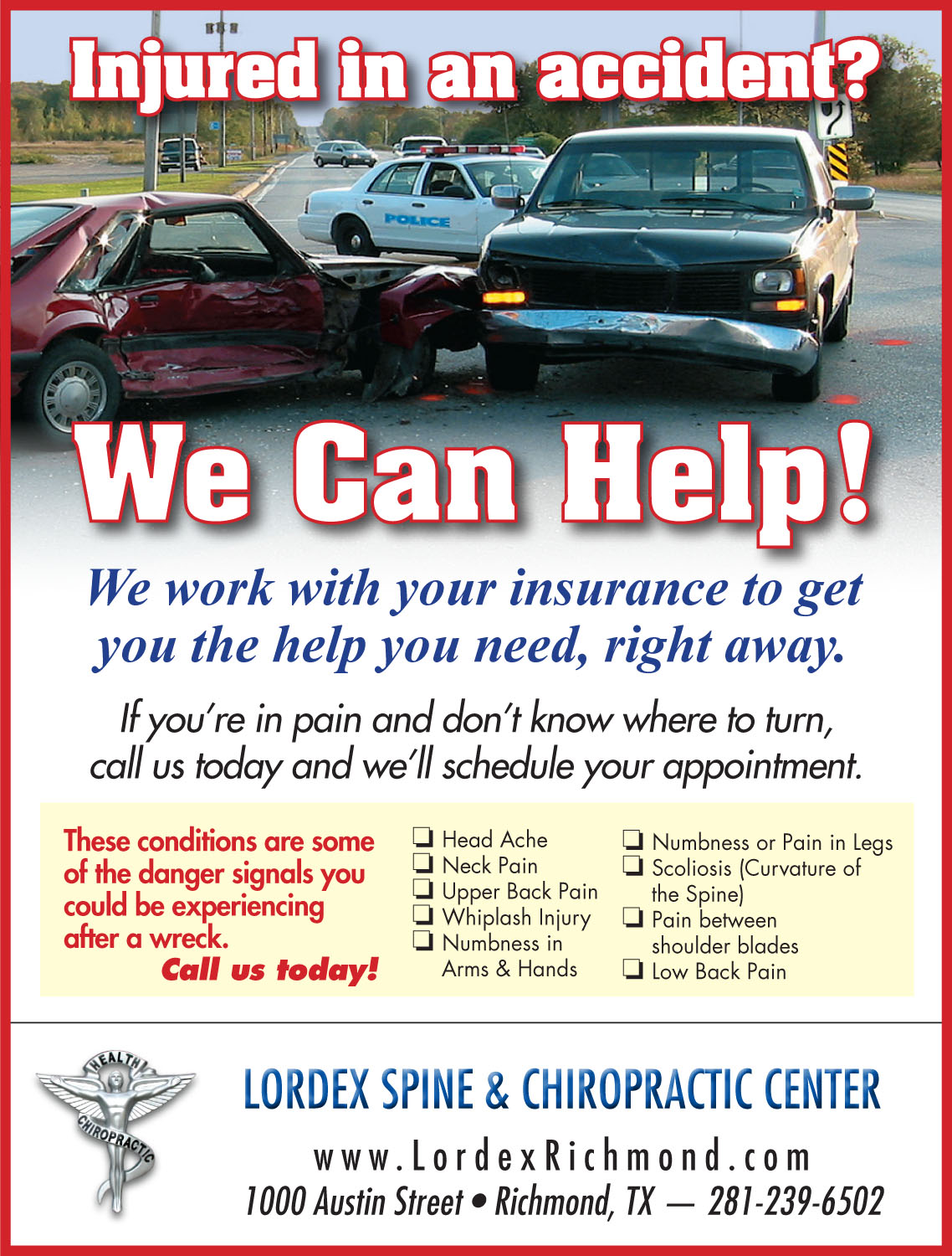 Auto Injury Flyer